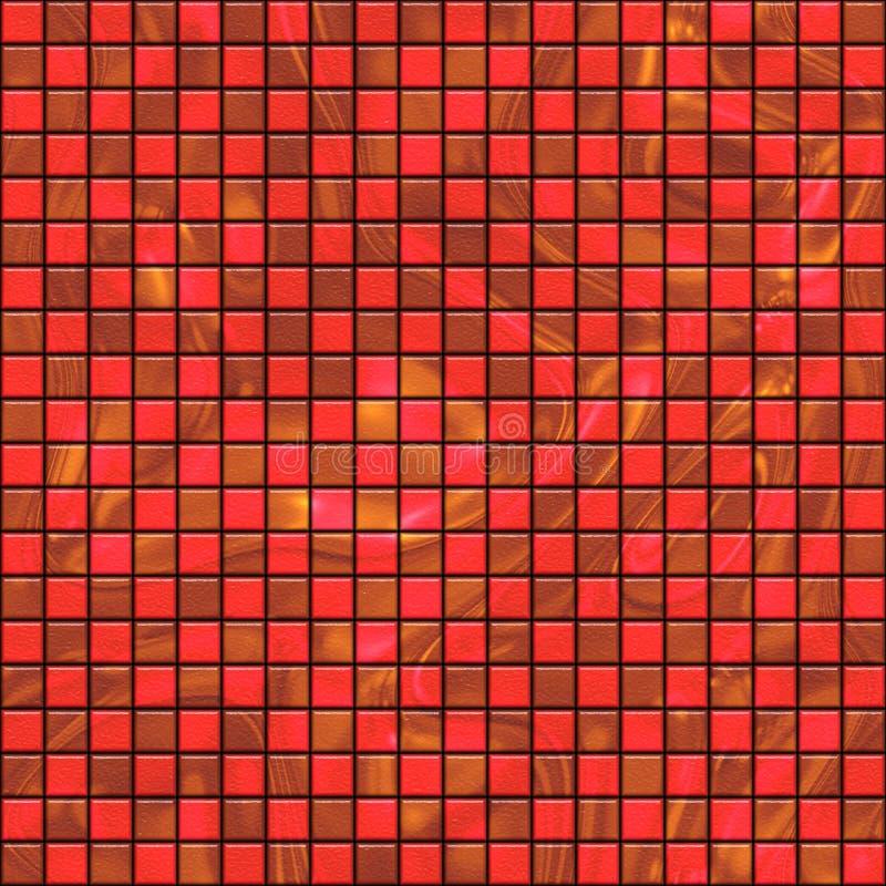 κόκκινα έναστρα κεραμίδια διανυσματική απεικόνιση