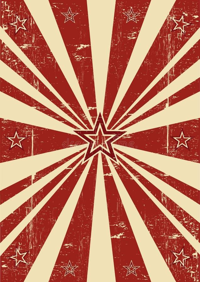 Κόκκινα αστέρια ηλιαχτίδων στοκ εικόνα