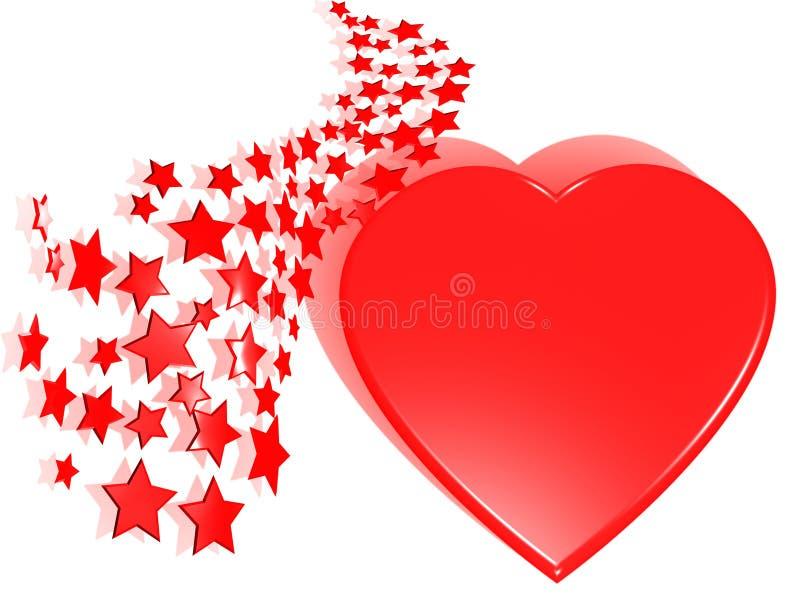 κόκκινα αστέρια διανυσματική απεικόνιση