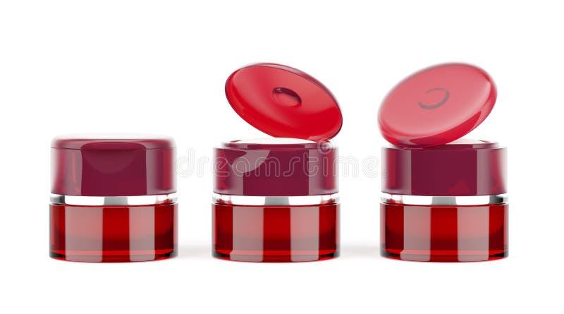 Κόκκινα βάζα ελεύθερη απεικόνιση δικαιώματος