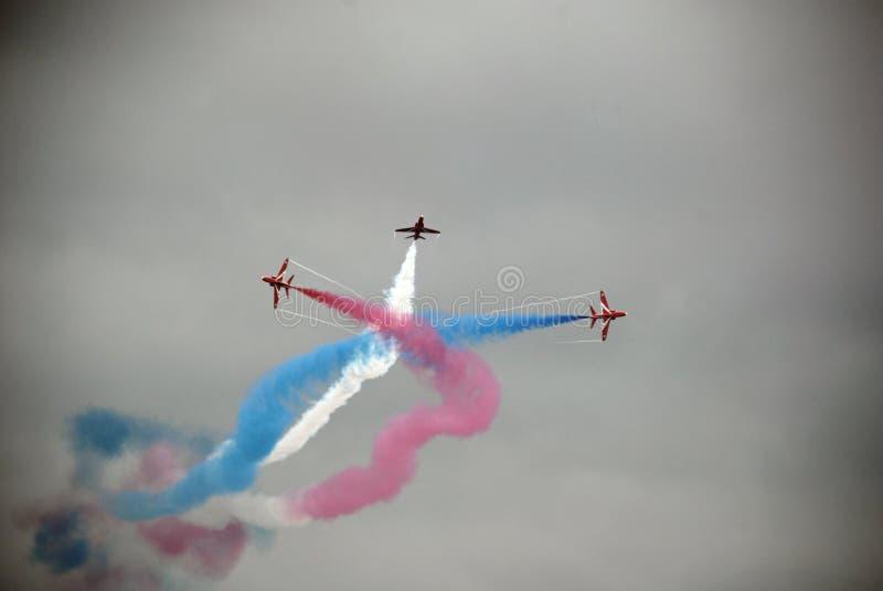 Κόκκινα βέλη 5 Airshow στοκ φωτογραφία με δικαίωμα ελεύθερης χρήσης