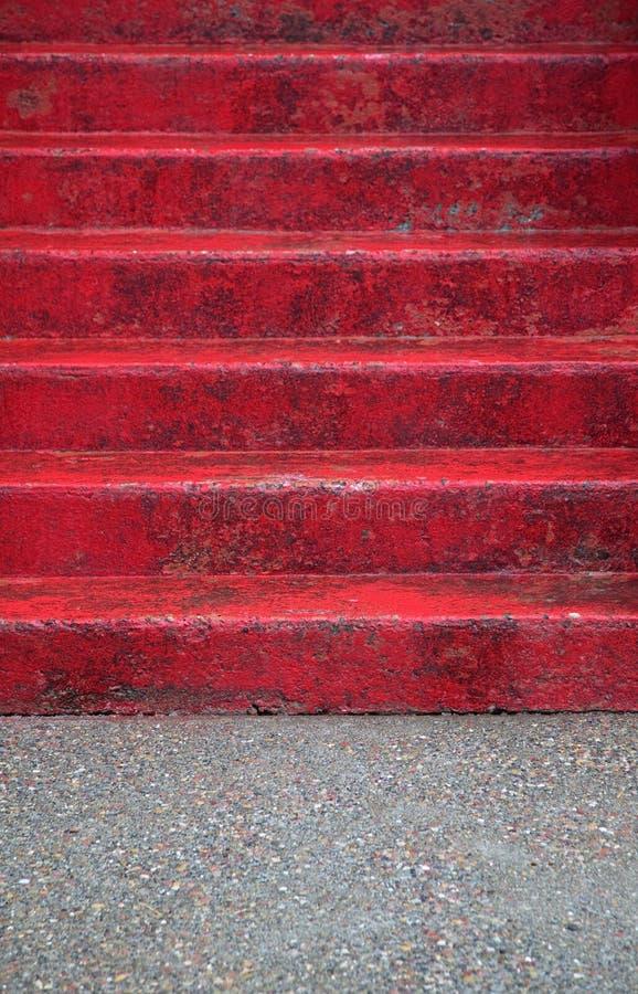 κόκκινα βήματα στοκ φωτογραφία με δικαίωμα ελεύθερης χρήσης