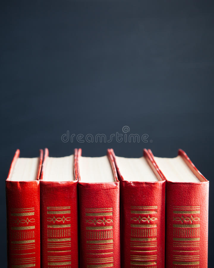Κόκκινα βιβλία στοκ φωτογραφία