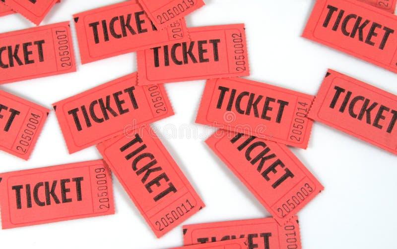 κόκκινα εισιτήρια στοκ φωτογραφία