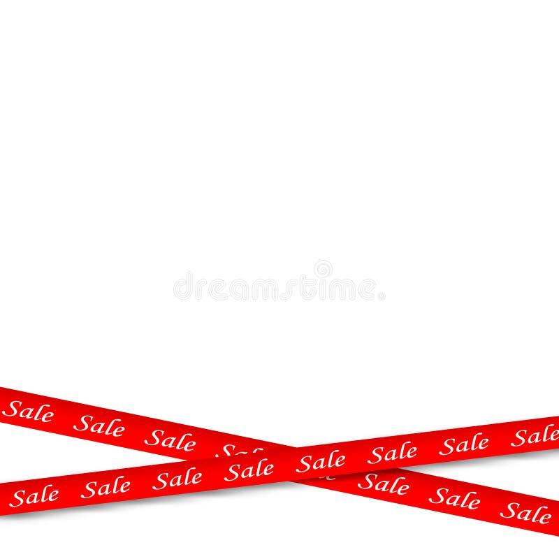 Κόκκινα εμβλήματα πώλησης διανυσματική απεικόνιση
