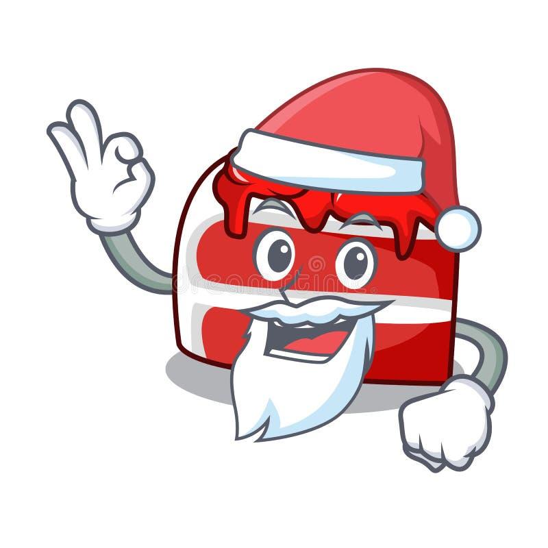 Κόκκινα κινούμενα σχέδια μασκότ βελούδου Santa απεικόνιση αποθεμάτων