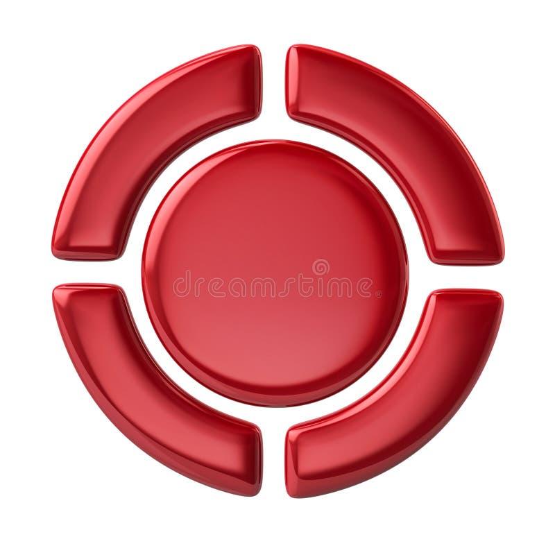 Κόκκινα κουμπιά ελέγχου φορέων διανυσματική απεικόνιση