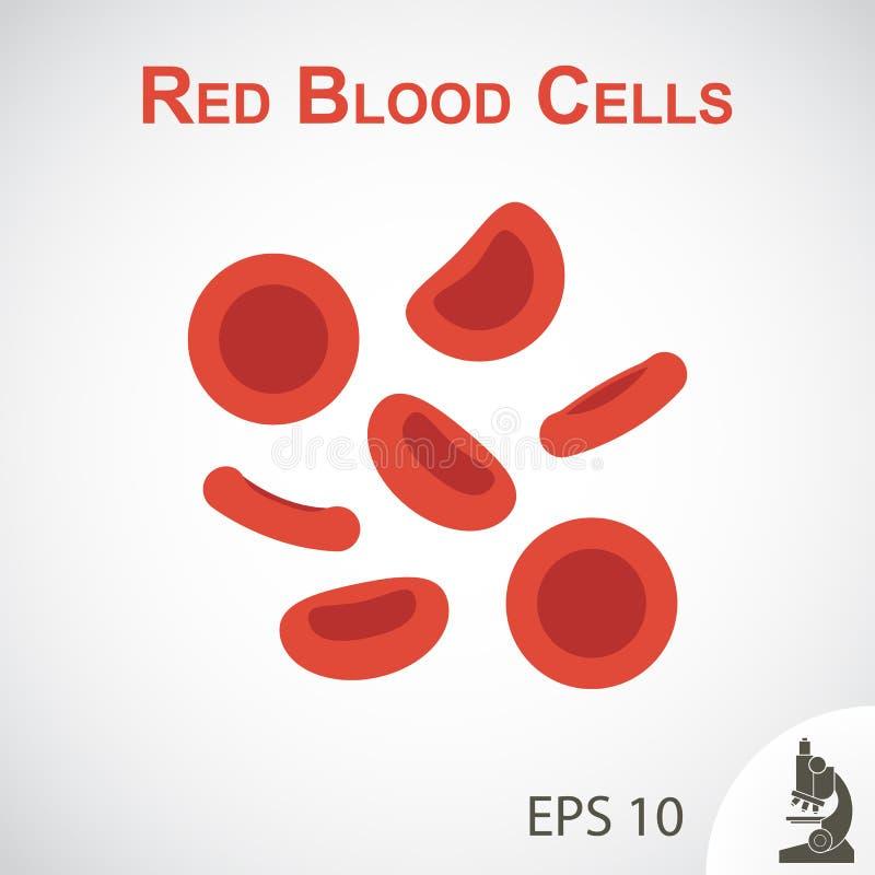 Κόκκινα κύτταρα αίματος (επίπεδο σχέδιο) στο υπόβαθρο σύντομων χρονογραφημάτων απεικόνιση αποθεμάτων
