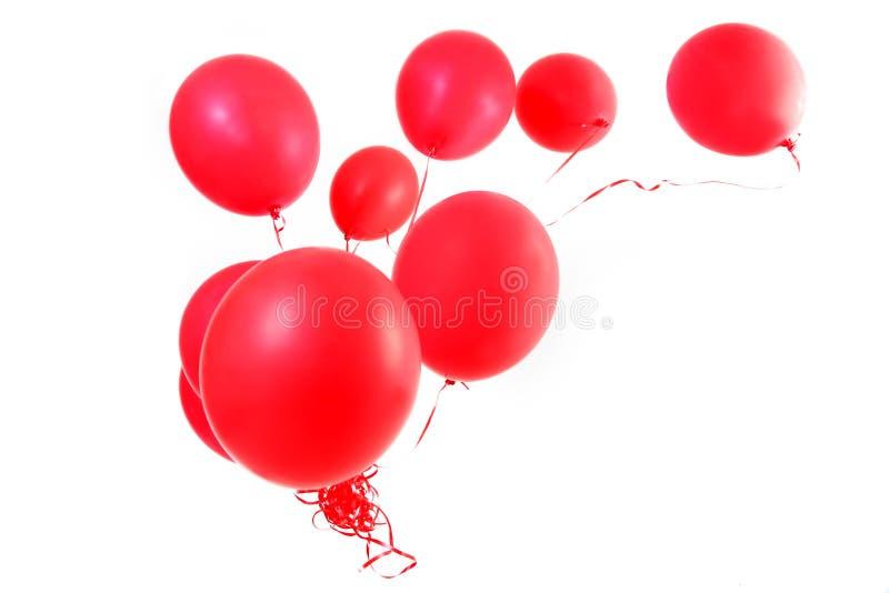 Κόκκινα μπαλόνια στοκ εικόνες με δικαίωμα ελεύθερης χρήσης