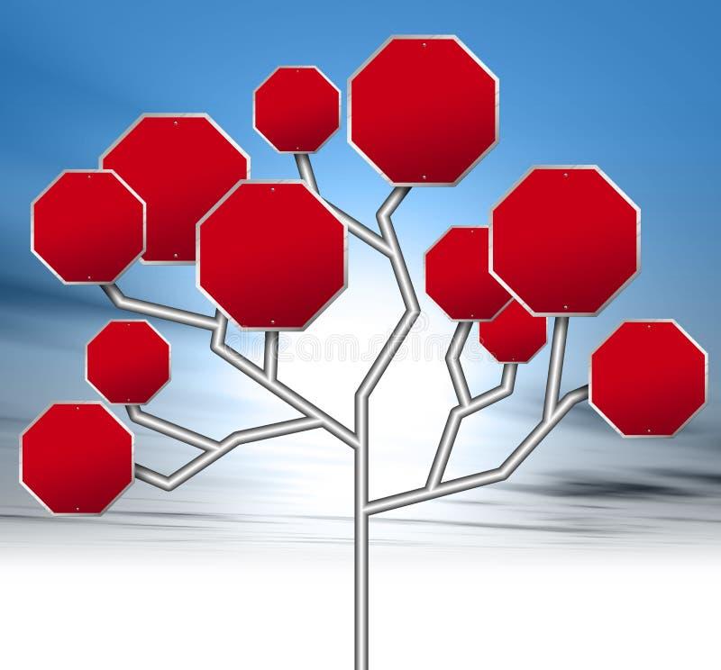 κόκκινα οδικά σημάδια απεικόνιση αποθεμάτων