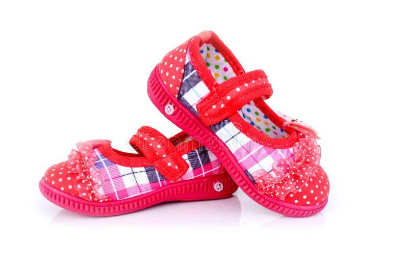 κόκκινα παπούτσια μωρών στοκ φωτογραφία