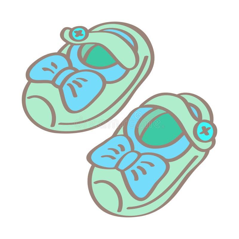 κόκκινα παπούτσια μωρών απεικόνιση αποθεμάτων