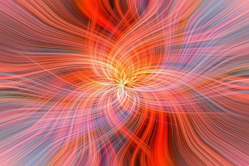 Κόκκινα πορτοκαλιά σχέδια absract Γαλαξιακός ήλιος έννοιας στοκ εικόνες
