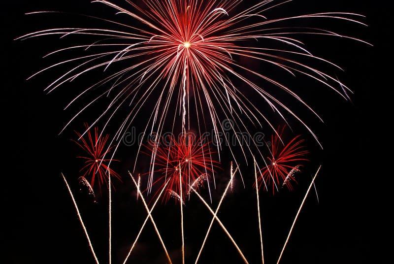 Κόκκινα πυροτεχνήματα στοκ φωτογραφία με δικαίωμα ελεύθερης χρήσης