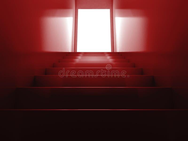 κόκκινα σκαλοπάτια απεικόνιση αποθεμάτων