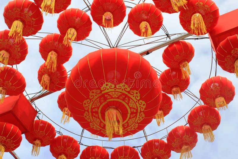 Κόκκινα φανάρια εγγράφου ως διακόσμηση για το νέο έτος Chinease στοκ φωτογραφίες με δικαίωμα ελεύθερης χρήσης