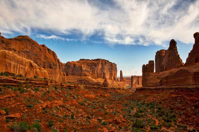 Κόκκινα φαράγγια βράχου Moab στοκ εικόνα με δικαίωμα ελεύθερης χρήσης