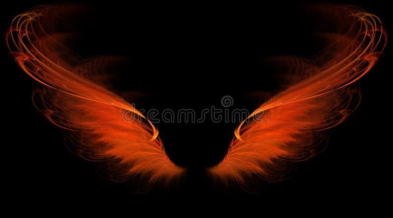 κόκκινα φτερά φλογών ελεύθερη απεικόνιση δικαιώματος