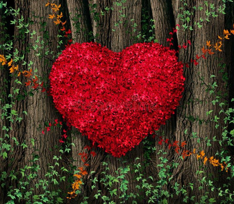 Κόκκινα φύλλα ημέρας βαλεντίνων απεικόνιση αποθεμάτων
