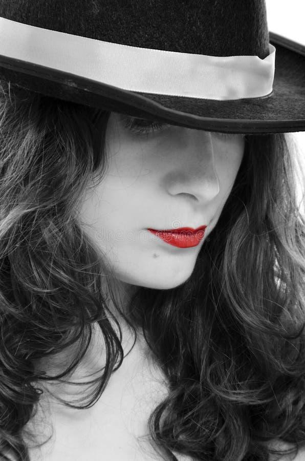 Κόκκινα χείλια στοκ φωτογραφία