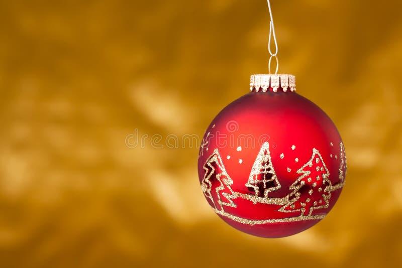κόκκινα Χριστούγεννα σφα& στοκ εικόνα