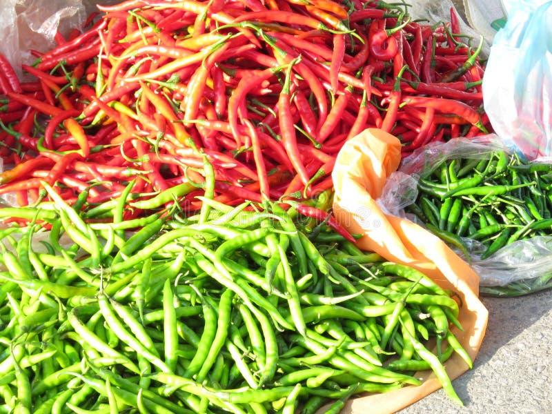 Κόκκινα hoy πιπέρια τσίλι στοκ εικόνες