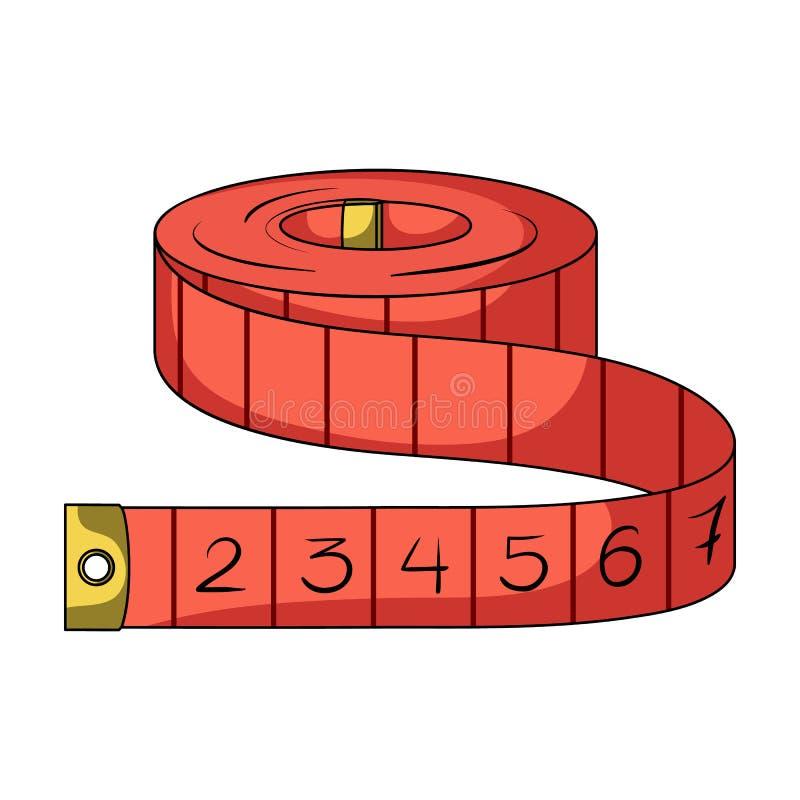 Κόκκινα Seamstresses ρουλετών Ενιαίο εικονίδιο εξαρτήσεων εργαλείων ραψίματος ή προσαρμογής στο ύφος κινούμενων σχεδίων rater, απ απεικόνιση αποθεμάτων