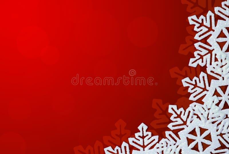 κόκκινα snowflakes συνόρων ανασκόπ&eta διανυσματική απεικόνιση
