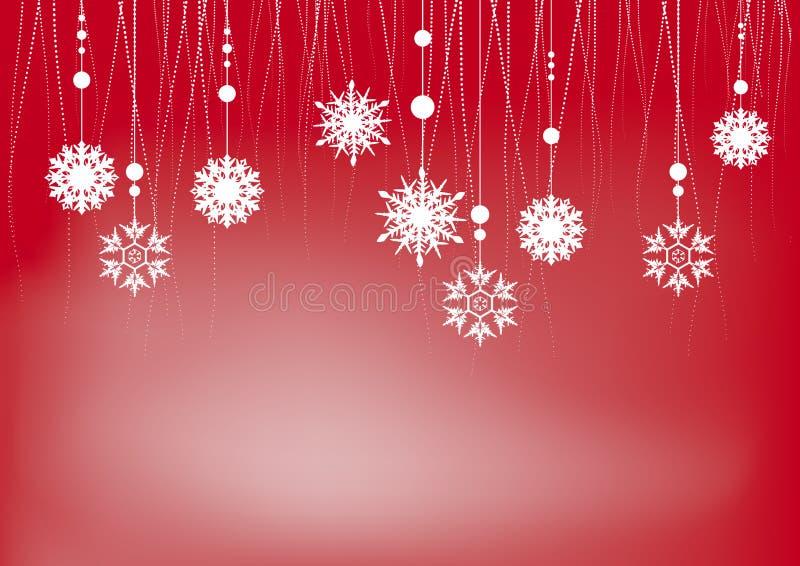 κόκκινα snowflakes Χριστουγέννων &alph διανυσματική απεικόνιση