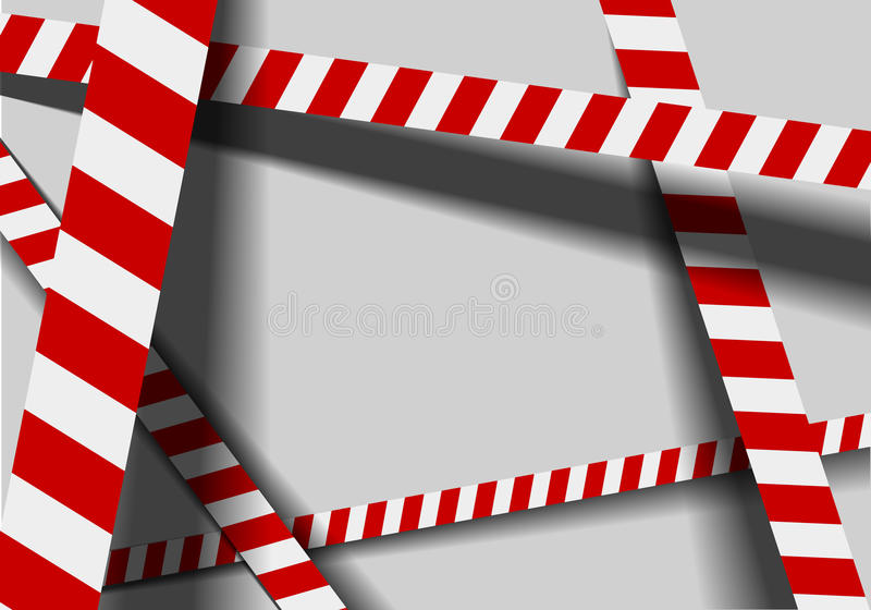 Κόκκινες άσπρες γραμμές προειδοποίησης διανυσματική απεικόνιση