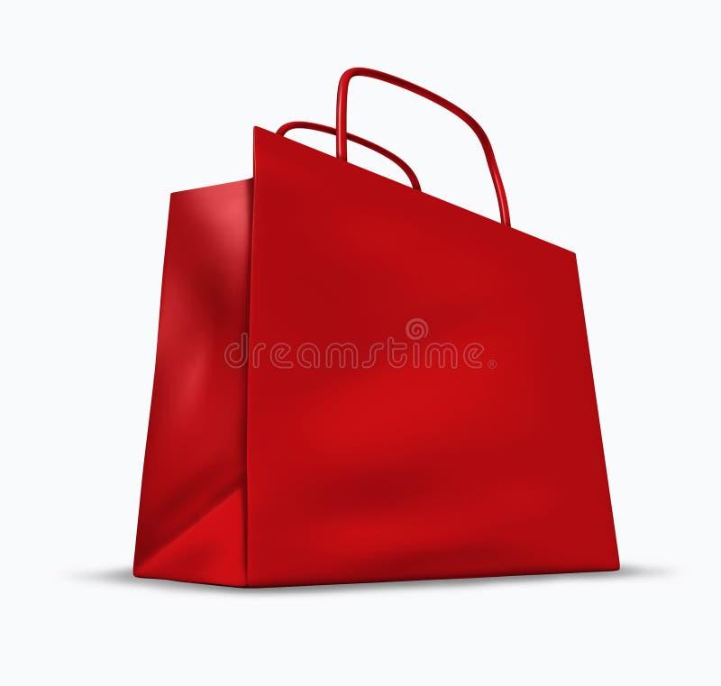 κόκκινες αγορές τσαντών διανυσματική απεικόνιση