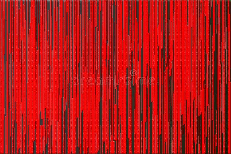 Κόκκινες γραμμές υγρού στο σκοτάδι απεικόνιση αποθεμάτων