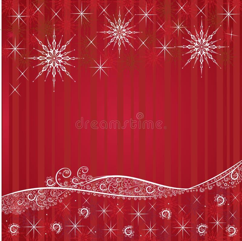 Κόκκινες εορταστικές ανασκοπήσεις Χριστουγέννων ελεύθερη απεικόνιση δικαιώματος