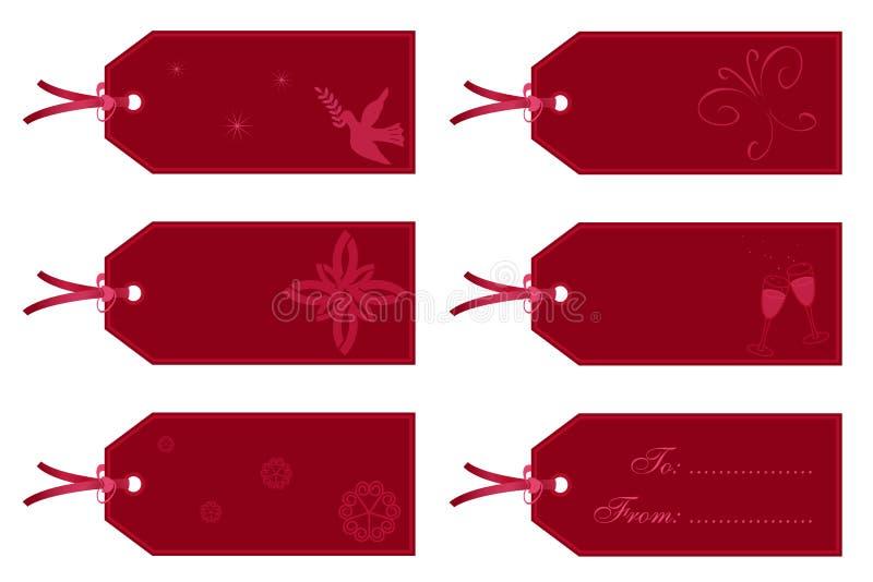 Download κόκκινες ετικέττες δώρων απεικόνιση αποθεμάτων. εικονογραφία από τιμή - 1533577
