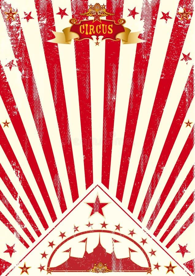 Κόκκινες ηλιαχτίδες αφισών τσίρκων στοκ φωτογραφία με δικαίωμα ελεύθερης χρήσης