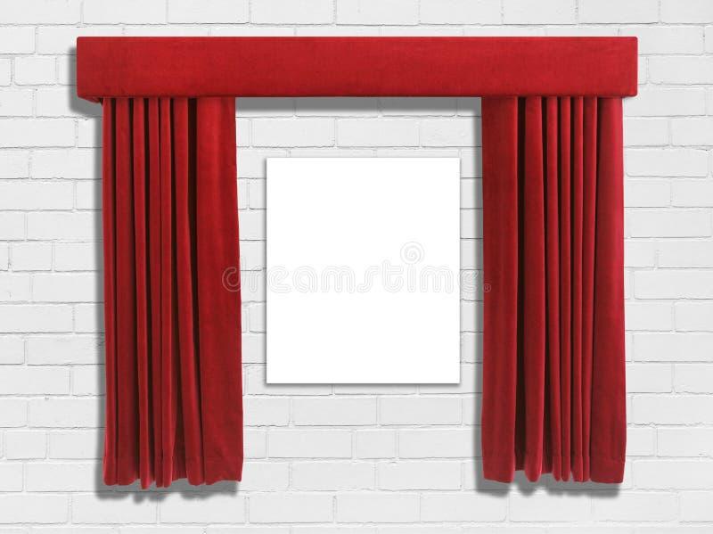 Κόκκινες κουρτίνες  στοκ εικόνες με δικαίωμα ελεύθερης χρήσης
