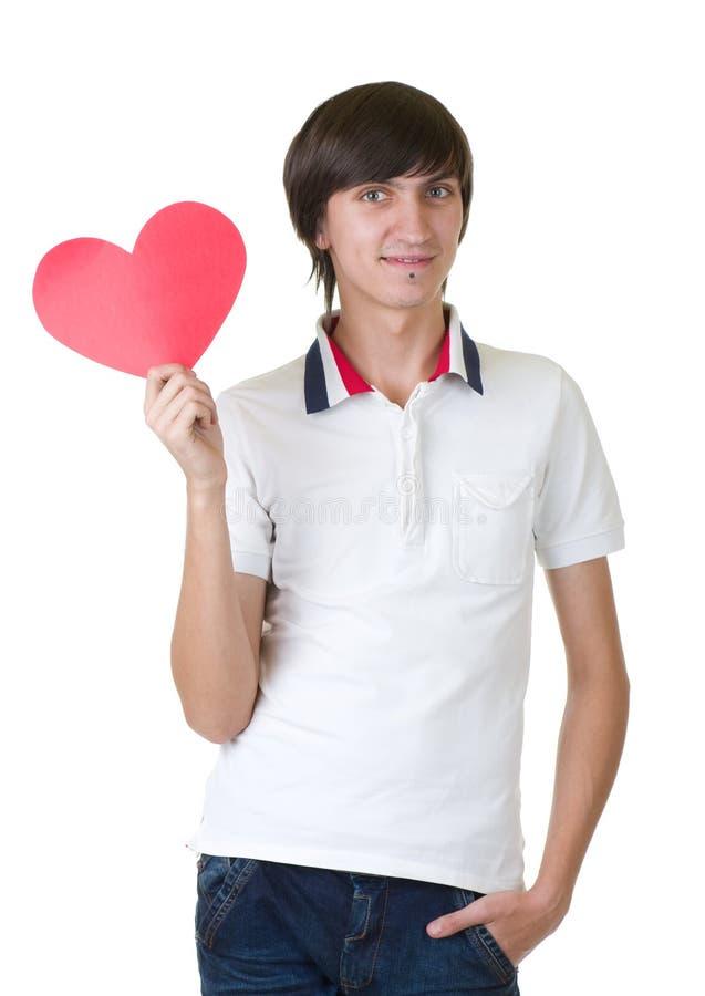 Download κόκκινες νεολαίες ατόμων εκμετάλλευσης καρδιών Στοκ Εικόνες - εικόνα από χρώμα, αφοσίωση: 22780662