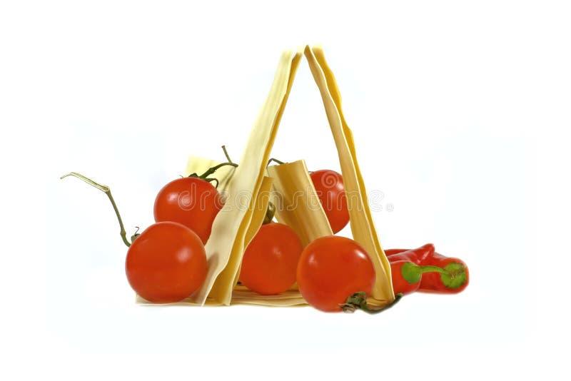 κόκκινες ντομάτες lasagna στοκ εικόνες