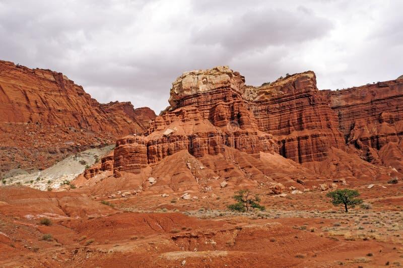 Κόκκινες στήλες βράχου στην έρημο στοκ φωτογραφίες με δικαίωμα ελεύθερης χρήσης