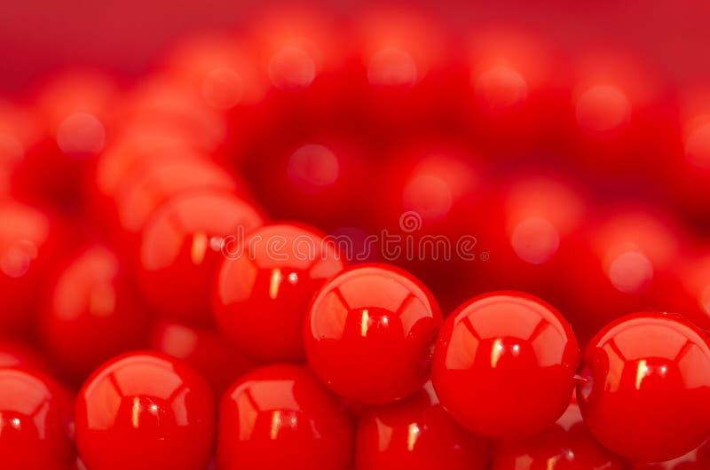 Κόκκινες χάντρες στοκ φωτογραφίες