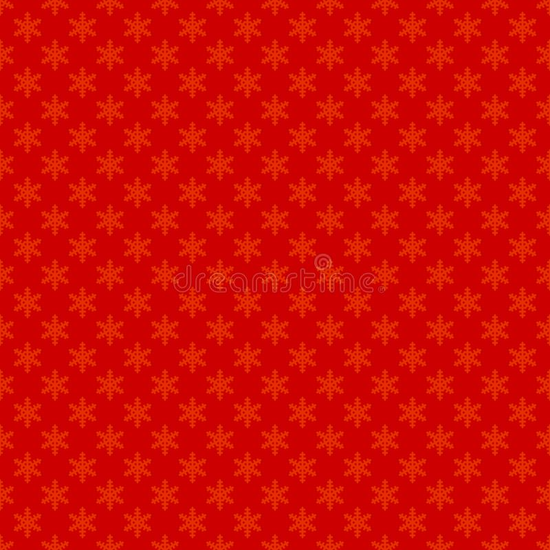 Κόκκινη άνευ ραφής απλή γεωμετρική ταπετσαρία σχεδίων νιφάδων χιονιού - διανυσματικό σχέδιο υποβάθρου διακοσμήσεων Χριστουγέννων ελεύθερη απεικόνιση δικαιώματος