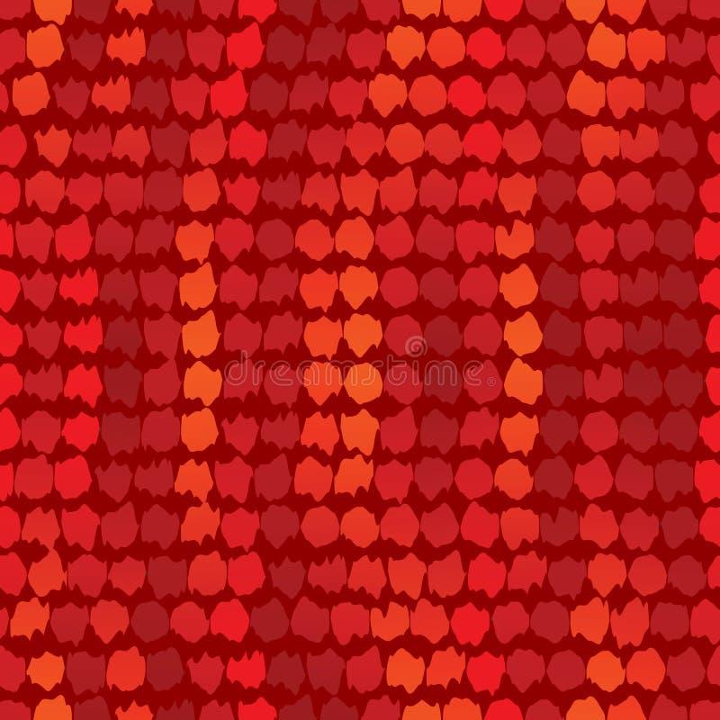 κόκκινη άνευ ραφής ταπετσ&alp ελεύθερη απεικόνιση δικαιώματος