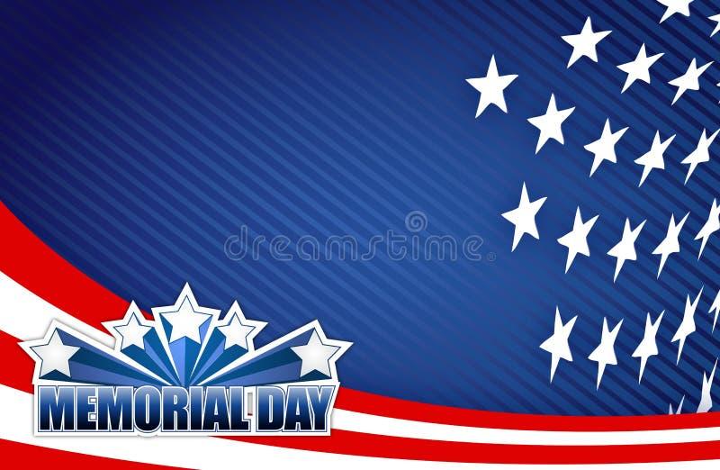 Κόκκινη άσπρη και μπλε απεικόνιση ημέρας μνήμης απεικόνιση αποθεμάτων