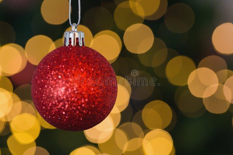 Κόκκινη ένωση διακοσμήσεων σφαιρών Χριστουγέννων στοκ εικόνα