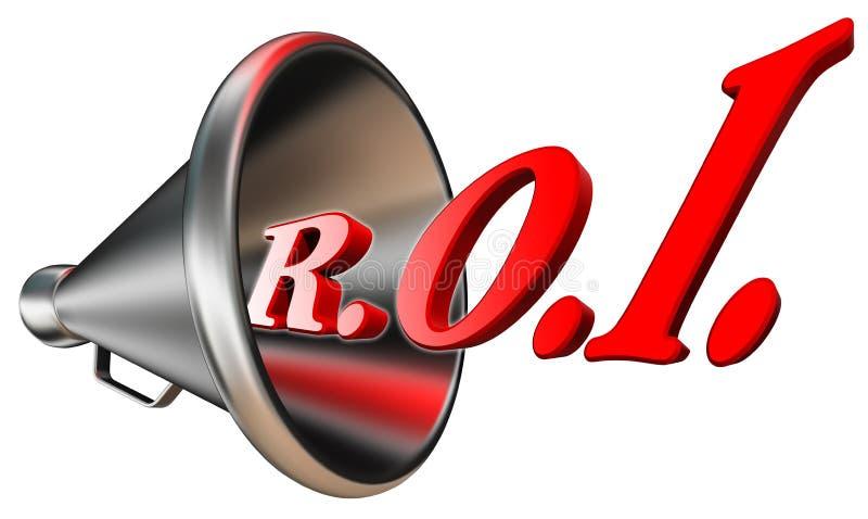 Κόκκινη λέξη Roi Megaphone Στοκ Εικόνες