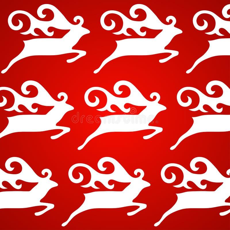 Κόκκινη ανασκόπηση ελαφιών Χριστουγέννων ελεύθερη απεικόνιση δικαιώματος