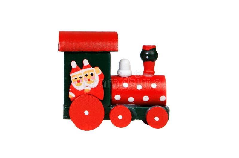 Κόκκινη ατμομηχανή Χριστουγέννων στοκ εικόνα