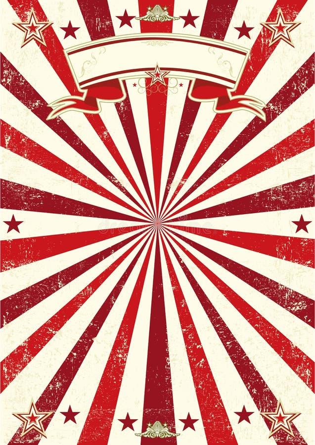 Κόκκινη αφίσα ηλιαχτίδων απεικόνιση αποθεμάτων