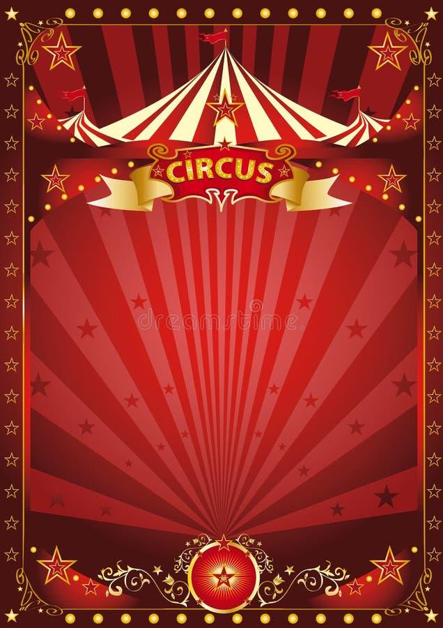 Κόκκινη αφίσα τσίρκων διασκέδασης στοκ εικόνα με δικαίωμα ελεύθερης χρήσης