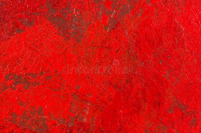 Κόκκινη αφηρημένη ακρυλική ζωγραφική διανυσματική απεικόνιση